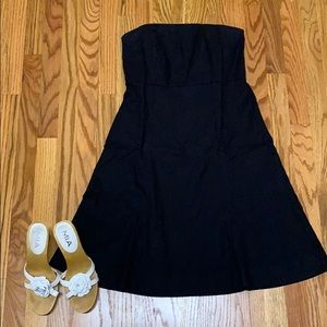 Gap black strapless little black dress